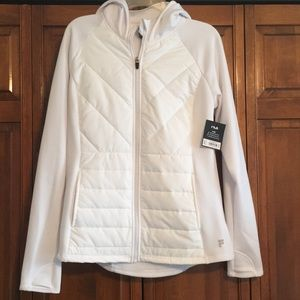 🆕🔥NWT FILA Quilt Front Fleece Jacket